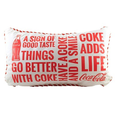 """Christmas 12.0"""" Coke Adds Life Pillow Better With Coke  -  Decorative Pillow"""