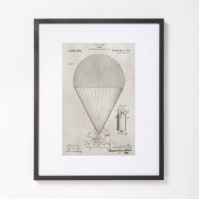 """16"""" x 20"""" Parachute Drawing Framed Wall Art - Hearth & Hand™ with Magnolia"""