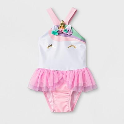 Baby Girls' One Piece Swimsuit with Bow - Cat & Jack™ Pink 9M