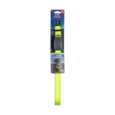 Nite Ize Nite Dog Rechargeable LED Dog Collar - XL - Lime/Green