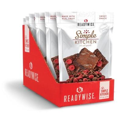 ReadyWise Simple Kitchen Raspberries & Brownie Bites Freeze-Dried Dessert - 12oz/6ct