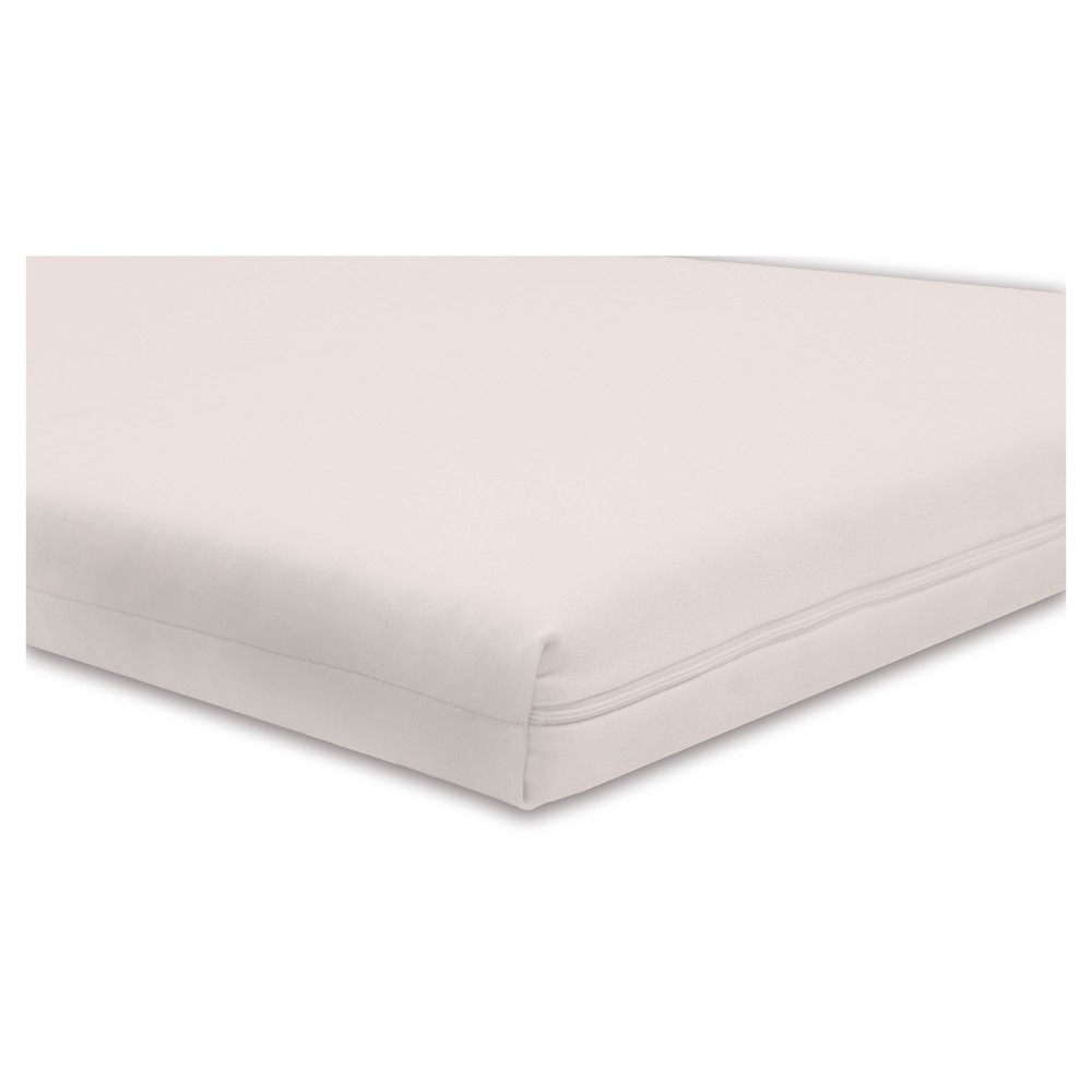 Babyletto Coco Core Non-Toxic Crib Mattress with Dry Waterproof Cover, Off White