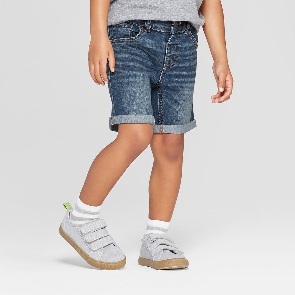 Toddler Boys Rolled Hem Jean Shorts - Cat & Jack Medium Blue 3T Coupons