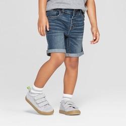 Toddler Boys' Rolled Hem Jean Shorts - Cat & Jack™ Medium Blue