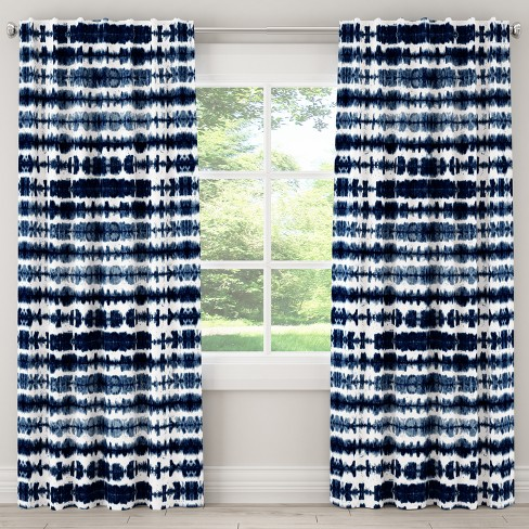 Blackout Curtain Obu Stripe Navy - Cloth & Co. - image 1 of 6