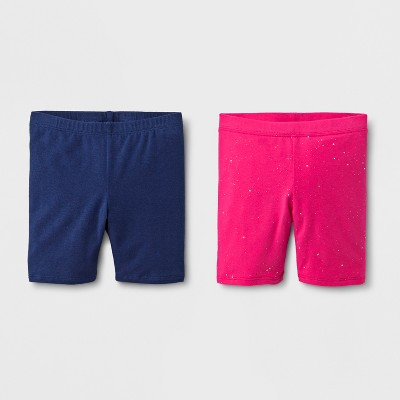 Toddler Girls' Trouser Shorts - Cat & Jack™ Navy 2T