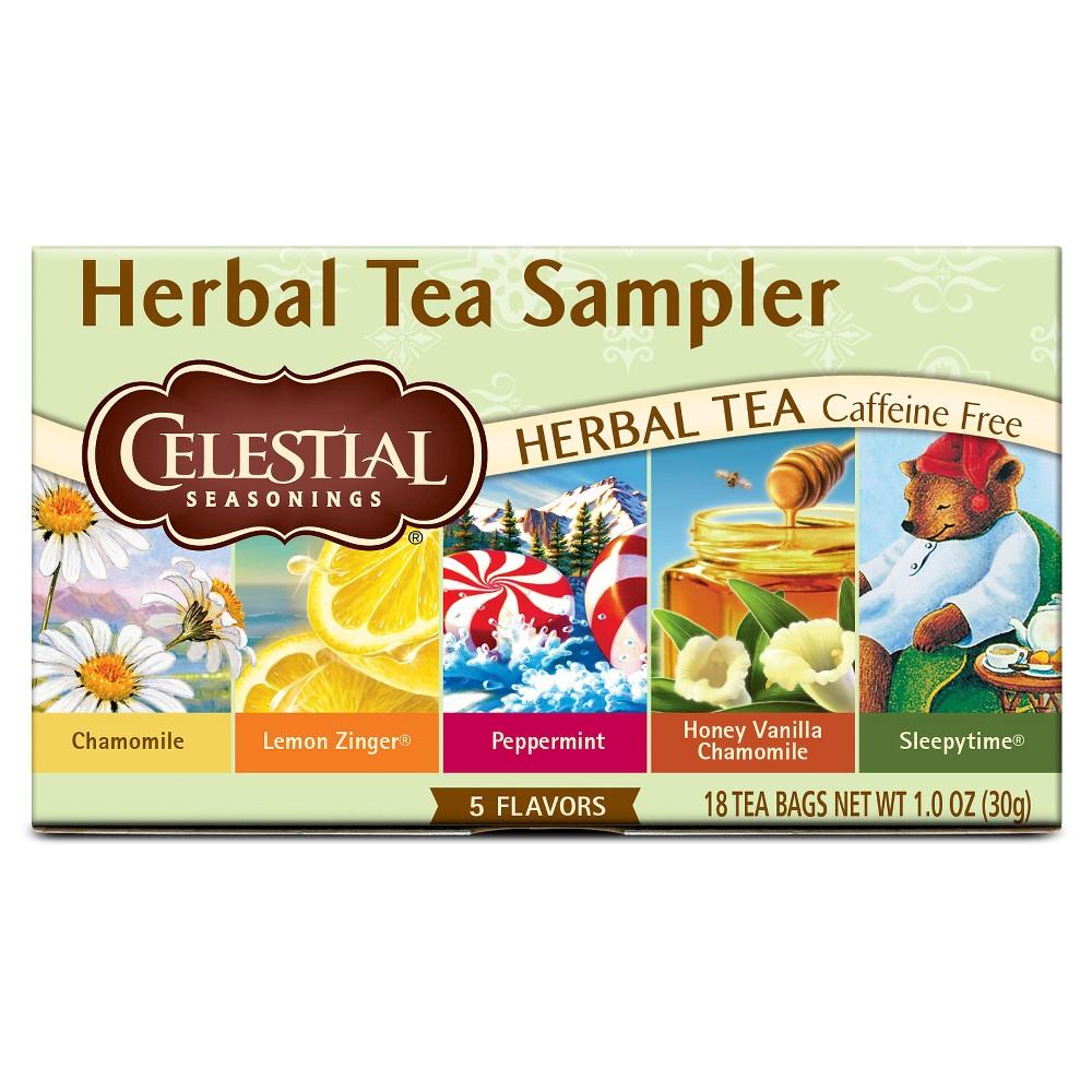 Celestial Seasonings Herbal Tea Sampler 18ct