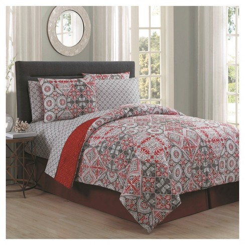 Red Minerva Bed in a Bag Set 8pc - image 1 of 1