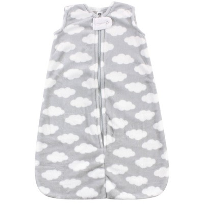 Hudson Baby Unisex Baby Plush Sleeping Bag Sack Blanket - Gray Clouds Plush 12-18 Months