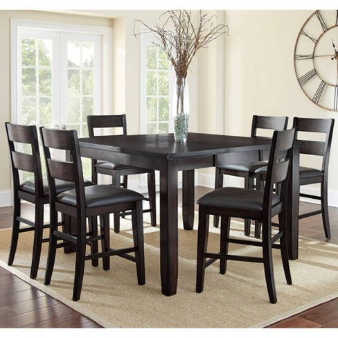7pc Tory Counter Height Dining Set Espresso Brown - Steve Silver - image 1 of 4