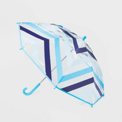 Kids' Striped Stick Umbrella - Cat & Jack™ Blue