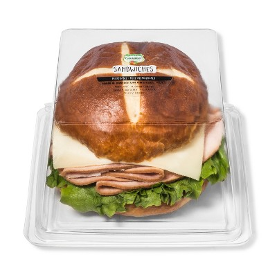 Fresh Garden Highway Ham & Swiss on Pretzel Roll Sandwich - 9.25oz