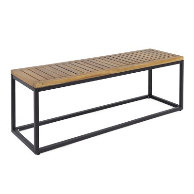 Jeco Acacia & Iron Bench - Christopher Knight Home