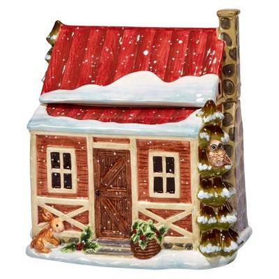 Certified International® Winter Lodge 3-D Cabin Cookie Jar