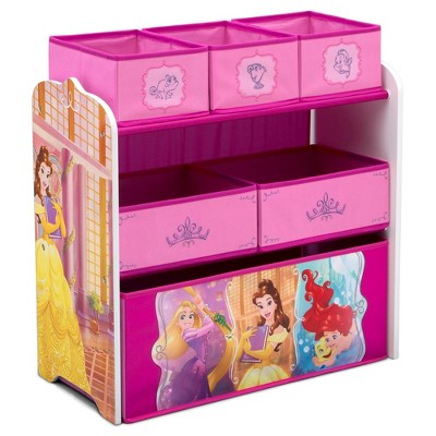 Disney Princess Design and Store 6 Bin Toy Organizer - Delta Children