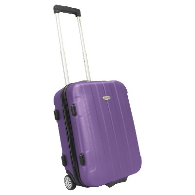 "Traveler's Choice Rome 21"" Hardside Carry On Suitcase - Purple"