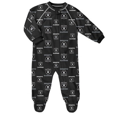 NFL Las Vegas Raiders Baby Boys' Blanket Zip-Up Sleeper - 6-9M