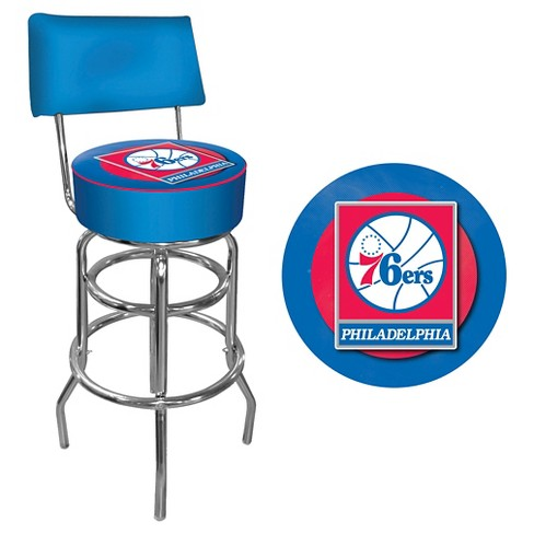 Amazing Philadelphia 76Ers Padded Swivel Bar Stool W Back Inzonedesignstudio Interior Chair Design Inzonedesignstudiocom