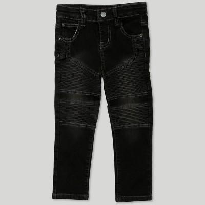 Afton Street Toddler Boys' Moto Jeans - Black 2T