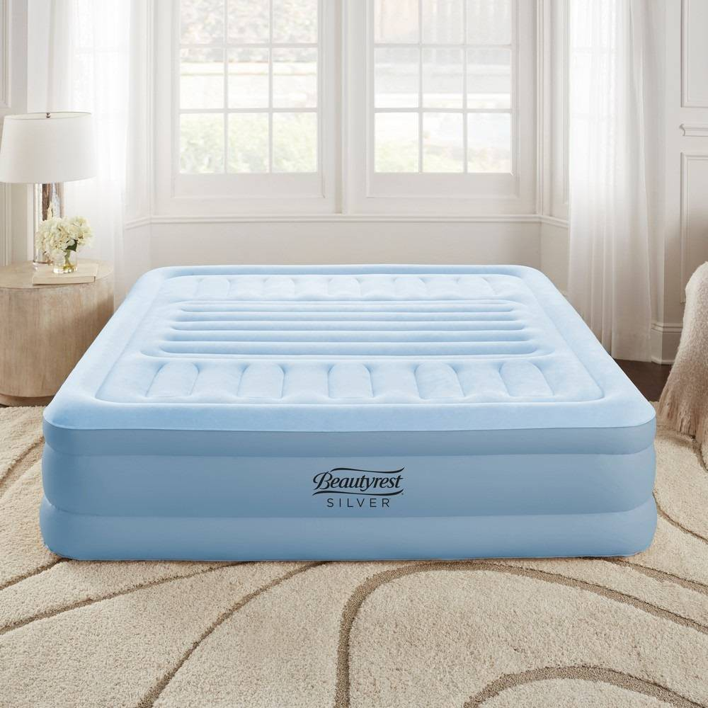 "Image of ""Simmons Beautyrest 18"""" Lumbar Supreme Queen Air Mattress with Built in Pump - Blue"""