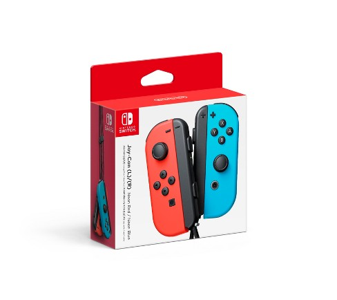 Nintendo Switch Joy-Con L/R Neon Red/Neon Blue - image 1 of 1