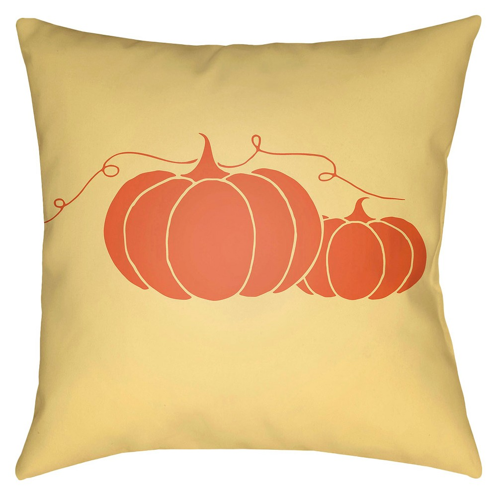 Yellow Pumpkin Throw Pillow 18