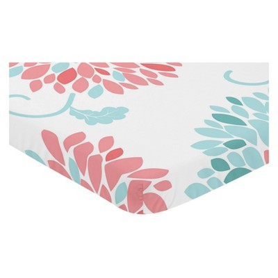 Sweet Jojo Designs Mini Fitted Sheet - Emma