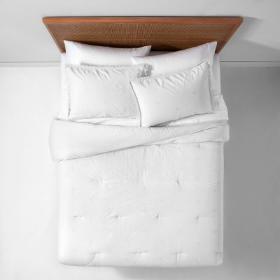 White Garment Washed Embroidered Comforter Set (Full/Queen)- Opalhouse™