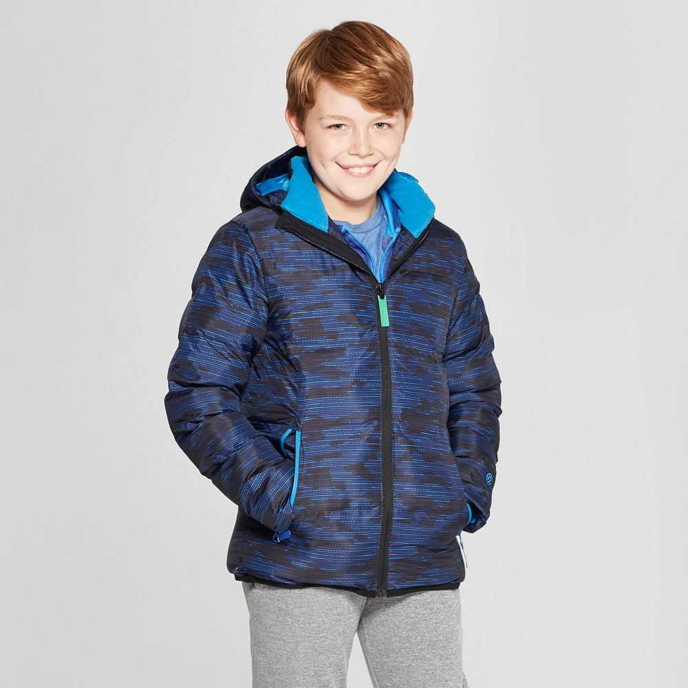 Boys' Printed Puffer Jacket - C9 Champion Royal Blue XS