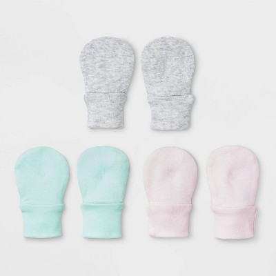 Baby Girls' 3pk Basic Mittens - Cloud Island™ Pink