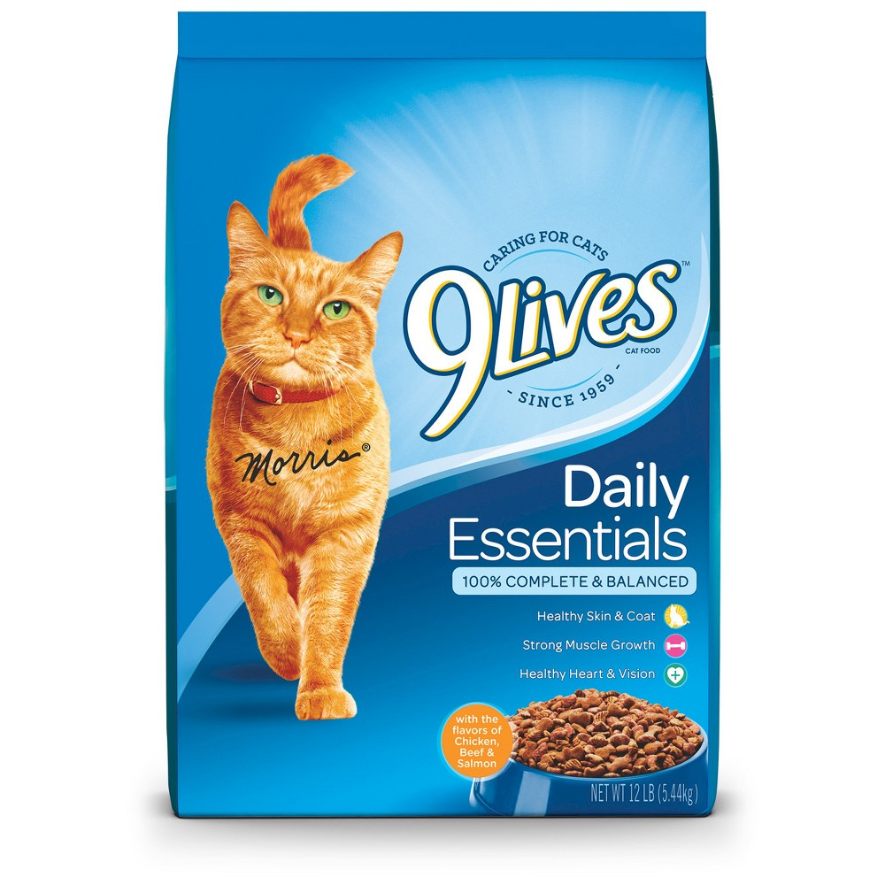Image of 9Lives Daily Essentials (Salmon Chicken & Beef) - Dry Cat Food - 12lbs