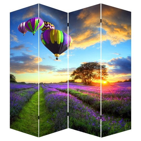 "Room Divider 71"" - Canvas - Air Balloon - Ore International - image 1 of 2"