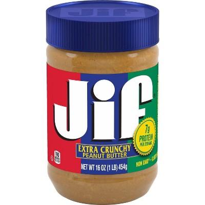 Jif Crunchy Peanut Butter - 16oz
