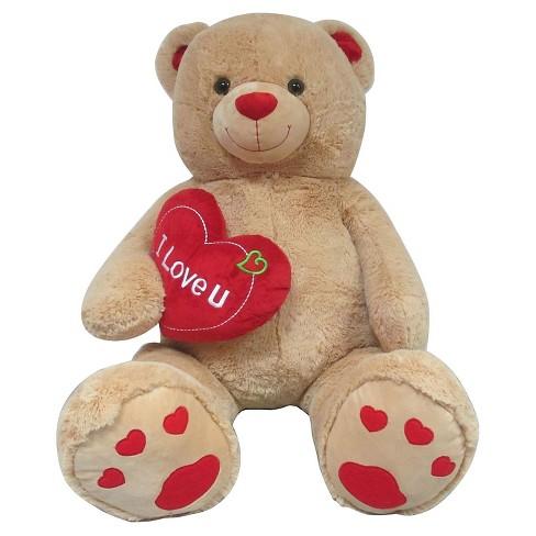 jumbo valentines teddy bear with i love you heart target