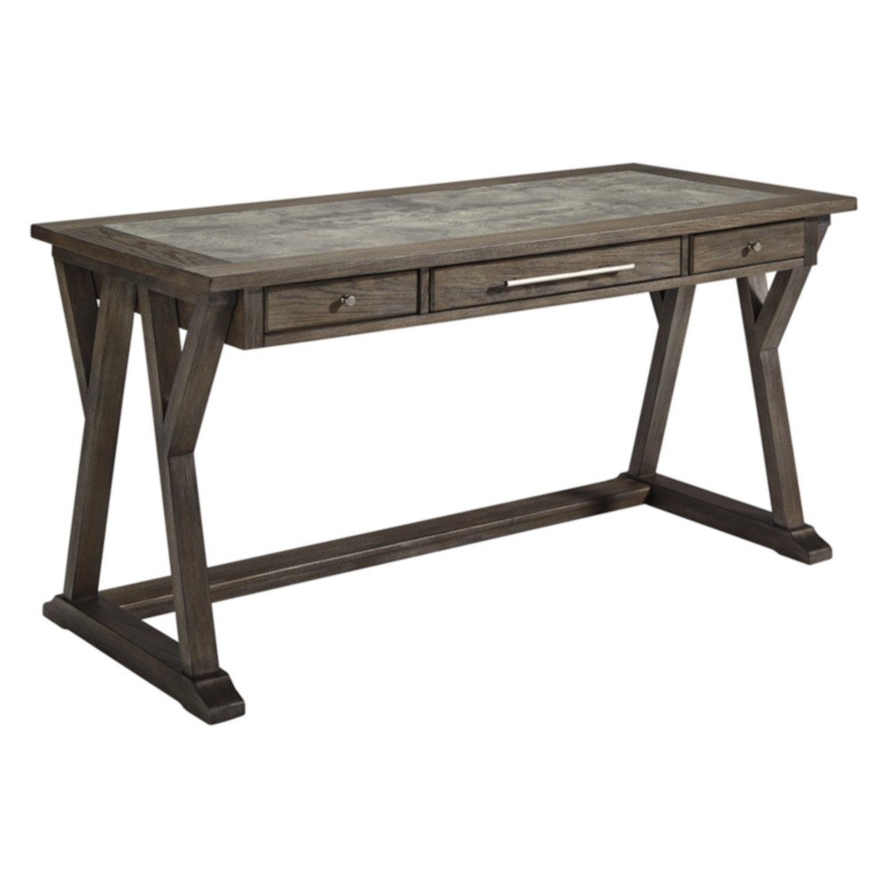 Luxenford Home Office Large Leg Desk Taupe - Signature Design by Ashley