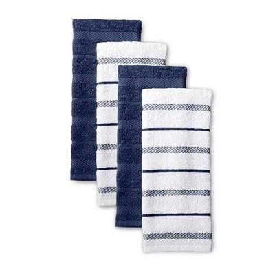 KitchenAid 4pk Cotton Albany Kitchen Towels Blue
