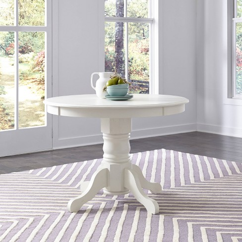 Seaside Lodge Round Pedestal Dining Table White - Home Styles