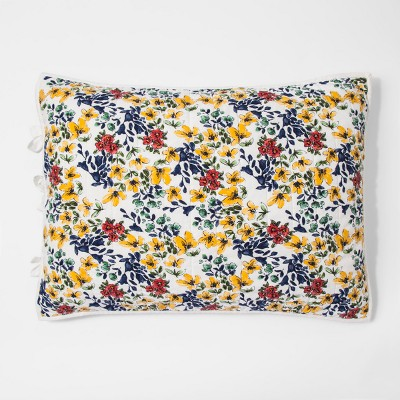Yellow Floral Quilted Sham (Standard)- Threshold™