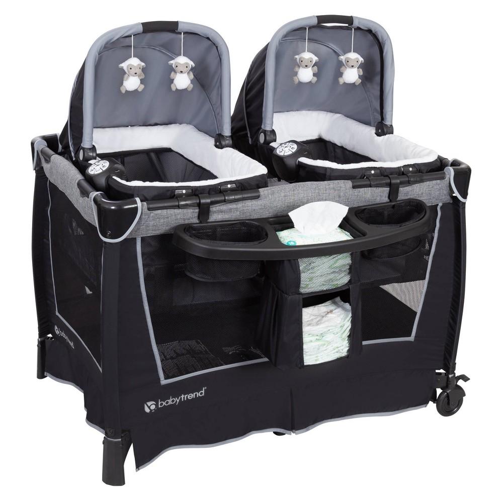 Baby Trend Retreat Twins Nursery Center - Quarry, Gray