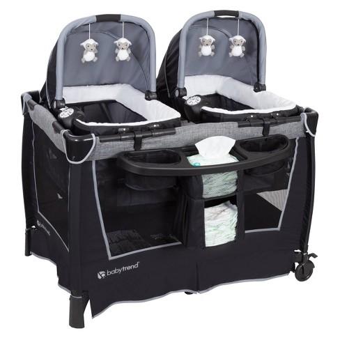 Baby Trend Retreat Twins Nursery Center - Quarry - image 1 of 4