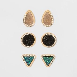 SUGARFIX by BaubleBar Druzy Earring Gift Set