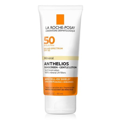 La Roche-Posay Anthelios Body and Face Soft Finish Mineral Sunscreen Lotion - SPF 50 - 3.04 fl oz
