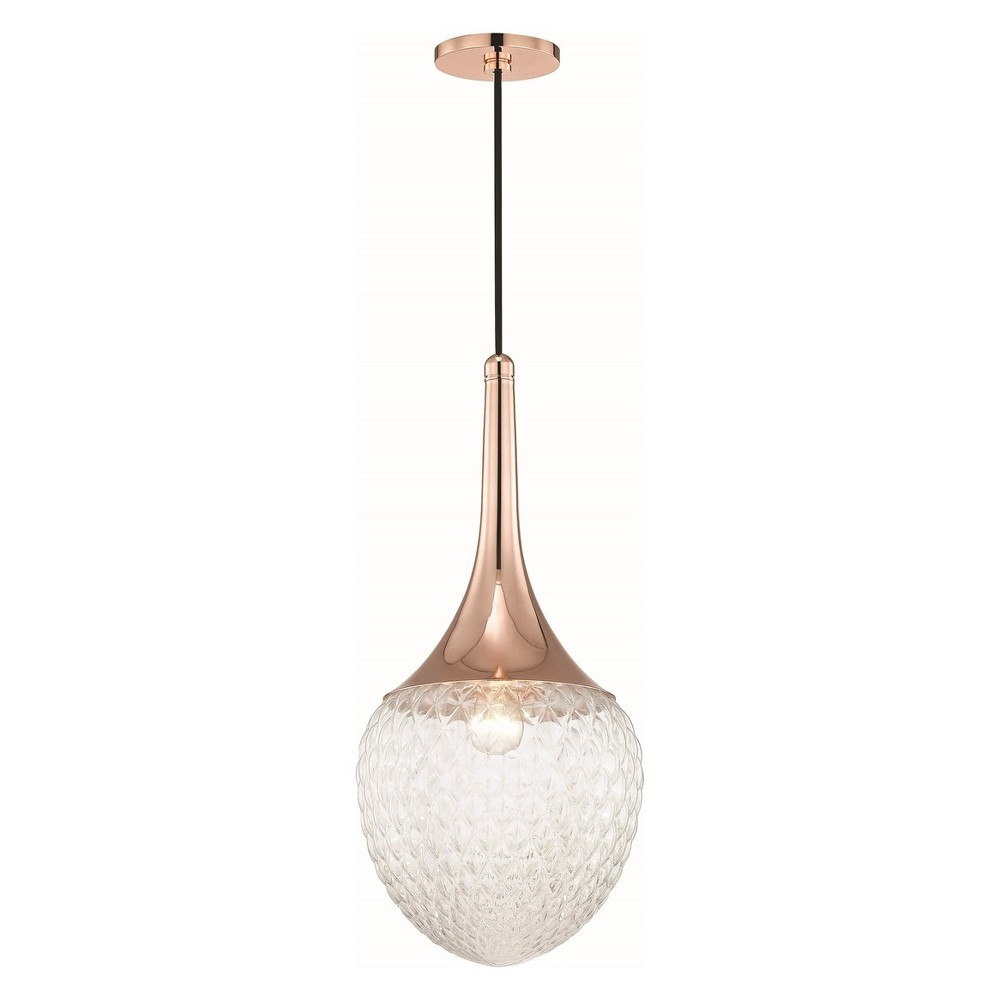 1pc Bella Light Pendant Style B Copper (Brown) - Mitzi by Hudson Valley