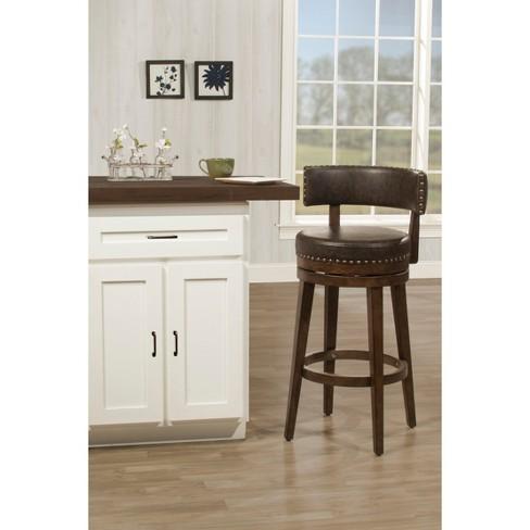 26 Lawton Swivel Counter Stool Walnut Hillsdale Furniture Target