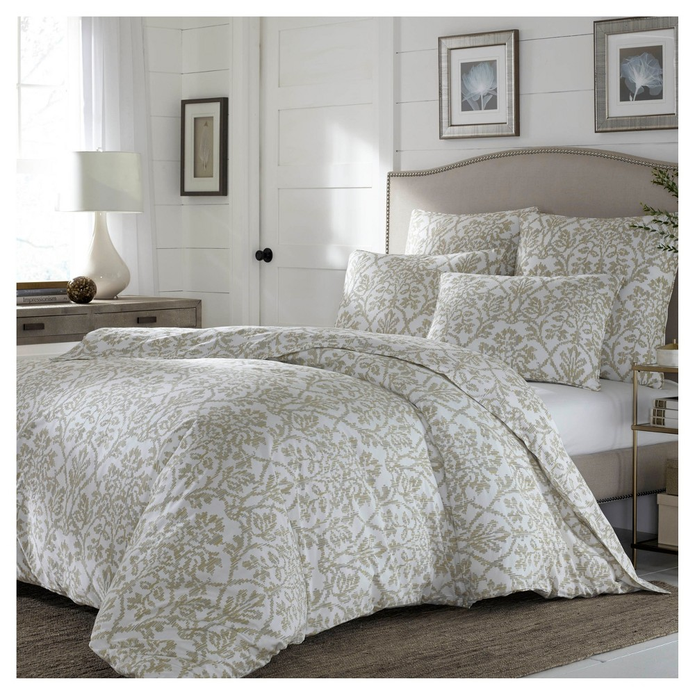 Beige Odelia Duvet Cover Set (King) - Stone Cottage, Multicolored