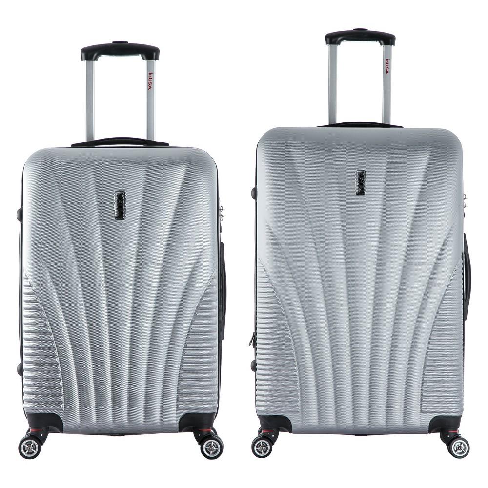 InUSA Chicago 2pc Hardside Spinner Luggage Set 25