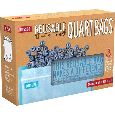 Russbe Reusable Quart Bags - 8ct