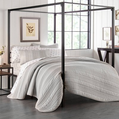 Stone Cottage Whitehills Quilt & Sham Set Gray