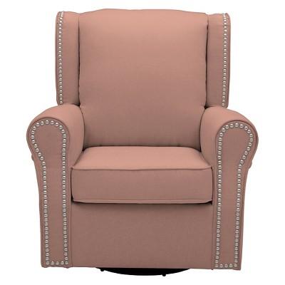 Delta Children Middleton Nursery Glider Swivel Rocker Chair – Blush