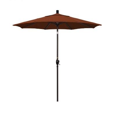 7.5u0027 Aluminum Push Tilt Crank Patio Umbrella   California Umbrella
